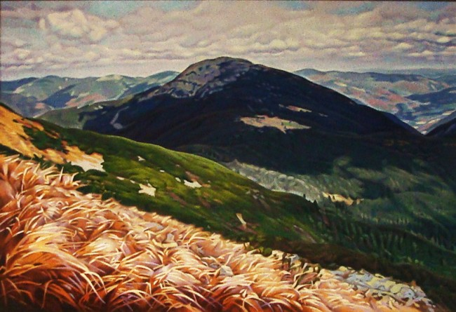 Anatoliy Bulychev - Carpathians. Central Gorgany. The view from the mountain ridge Parenky on Grof